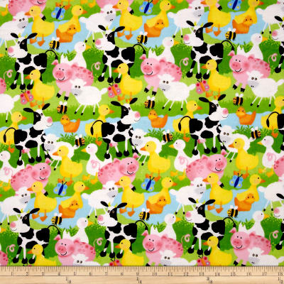 Flannel Farm Animals Multi