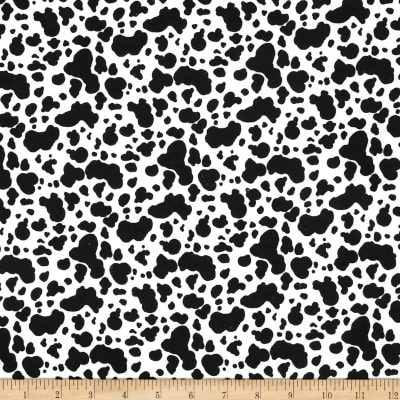 Flannel Cow Skin White/Black