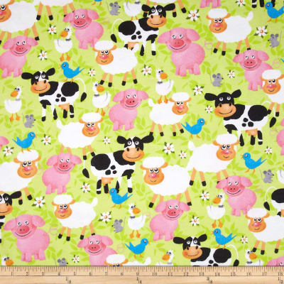 Flannel Smiling Animals Multi