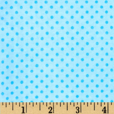 Flannel Mini Dots Tonal Blue