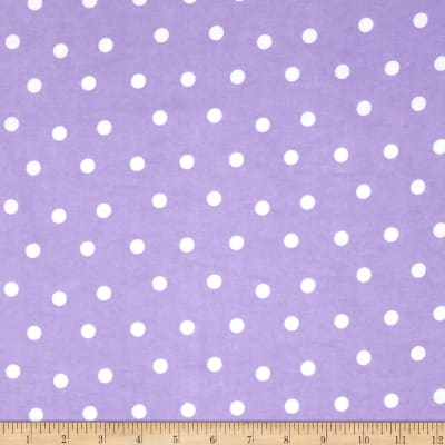 Flannel Dots Purple/White