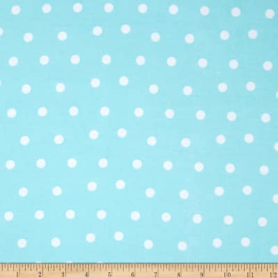 Flannel Dots Light Blue
