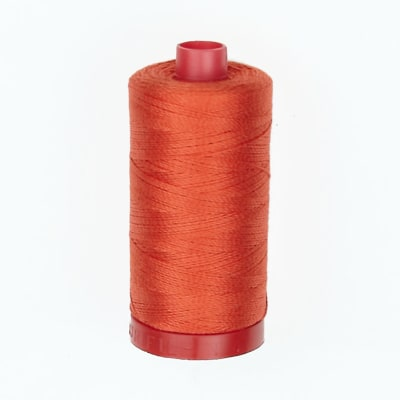 Aurifil 12wt Embellishment and Sashiko Dreams Thread Red Orange