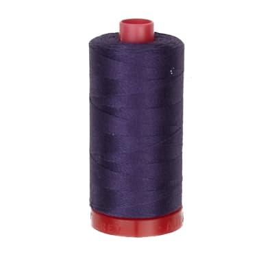 Aurifil 12wt Embellishment and Sashiko Dream Thread Dark Dusty Grape