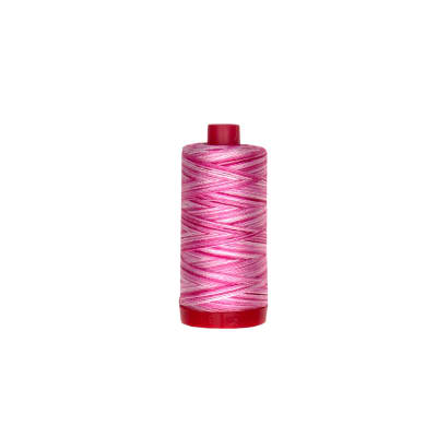 Aurifil 12wt Variegated Embellishment and Sashiko Dreams Thread Pink Taffy