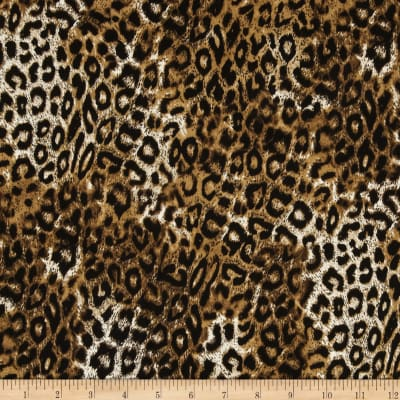 Timeless Treasures Jaguar Skin Brown