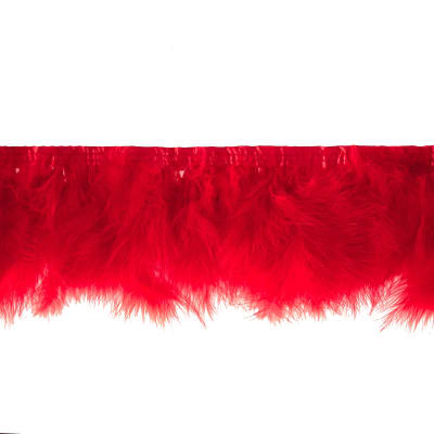 Feather Trim Red