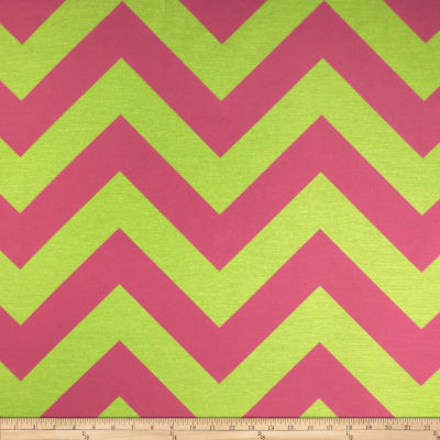 RCA Chevron Sheers Lime/Pink