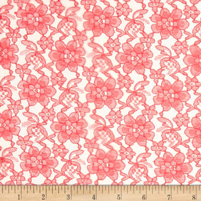 Raschelle Lace Coral Pink