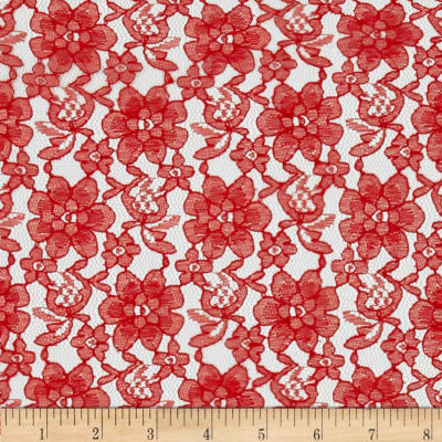 Raschelle Lace Red