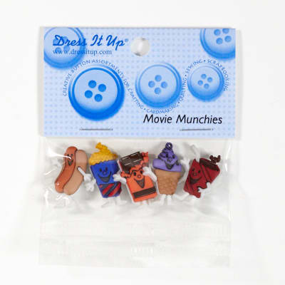 Dress It Up Embellishment Buttons Movie Munchies