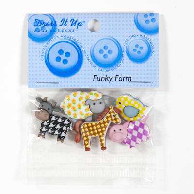 Dress It Up Embellishment Buttons Funky Farm