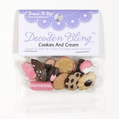 Dress It Up Embellishment Buttons Cookies And Cream