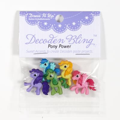 Dress It Up Embellishment Buttons Pony Power