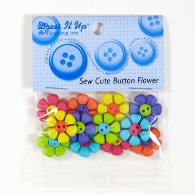 Dress It Up Embellishment Buttons Button Flower
