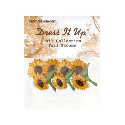 Dress It Up Embellishment Buttons Fall Blooms
