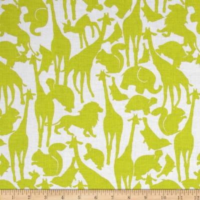 Michael Miller Cynthia Rowley Oh Baby Animal Silhouettes Citron