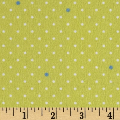 Michael Miller Cynthia Rowley Oh Baby Flannel Pin Dot Citrus