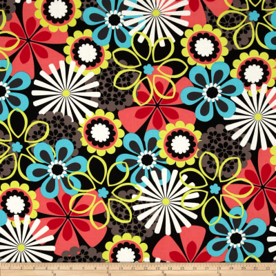Michael Miller Contemporary Florals Flower Shower Clementine