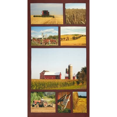 "American Spirit Digital Print On The Farm 24"" Panel Multi"