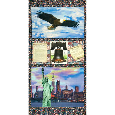"American Spirit Digital Print Freedom 24"" Panel Multi"