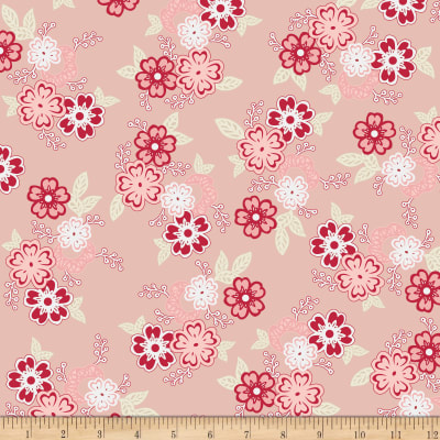 Riley Blake Raspberry Parlour Large Floral Pink