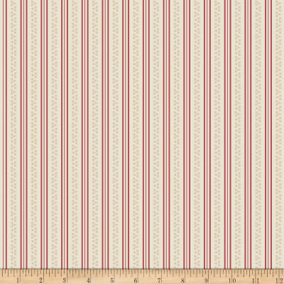 Riley Blake Raspberry Parlour Stripe Cream