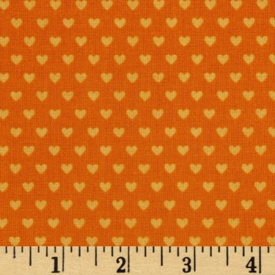 Riley Blake Snapshots Hearts Orange