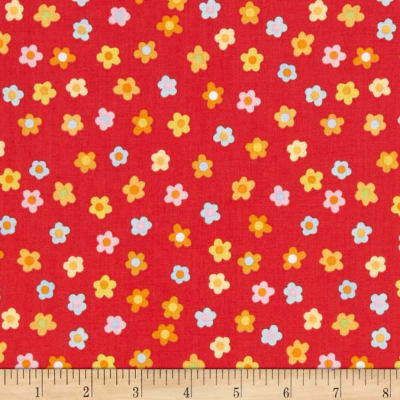 Kitschy Kawaii Mini Floral Red/Multi
