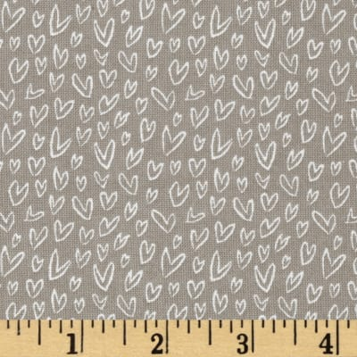 Dear Stella Woodwinked Mini Hearts Pewter