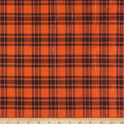 Holiday Blitz Medium Plaid Orange/Fuchsia