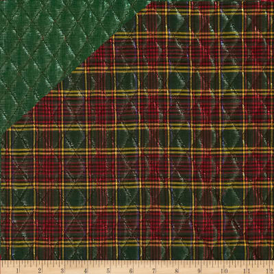 Holiday Blitz Double Sided Quilted Plaid Green