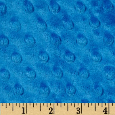Shannon Minky Cuddle Dimple Peacock