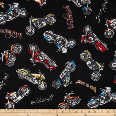 Born To Ride Motorcycles Black