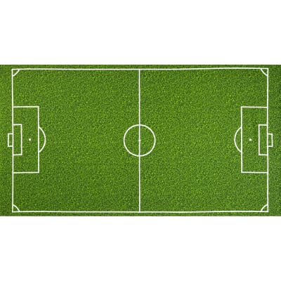 "Sports Life Soccer Field Grass 24"" Panel Green"