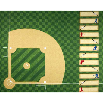 "Sports Life Baseball Field 36"" Panel Evergreen"
