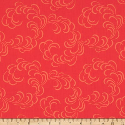 "108"" Wide Quilt Back Feathers Salmon"