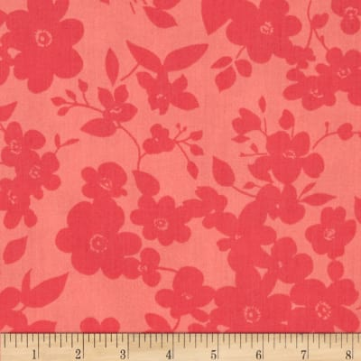 "108"" Wide Quilt Back Daisies Coral"