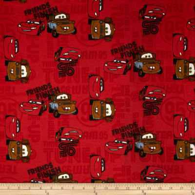 Disney Cars Flannel Friends to the Finish Patch Red