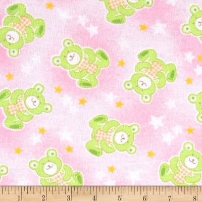 Newcastle Flannel Beary Stars Pink