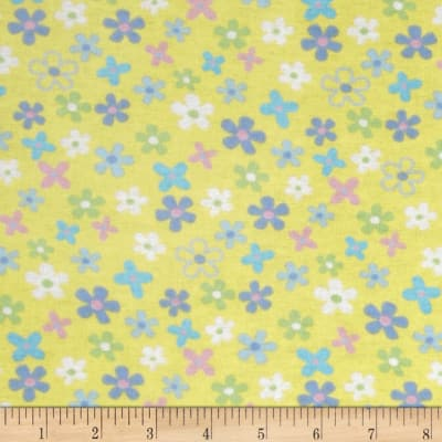 Newcastle Flannel Cherish Floral Yellow