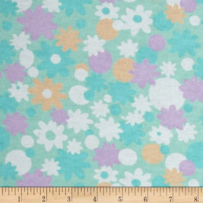 Newcastle Flannel Minnie Floral Aqua