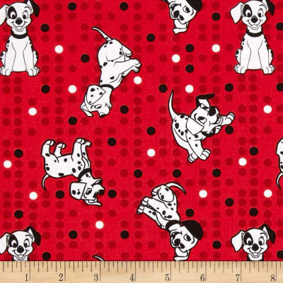 Disney Dalmations Star Toss Red