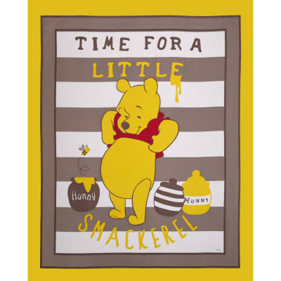 Disney Pooh Story of Hunney Panel Yellow