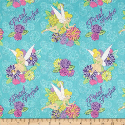 Disney Tinkerbell Tink Petal Perfect Flower Turquoise