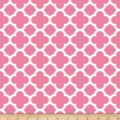 Riley Blake Quatrefoil Hot Pink