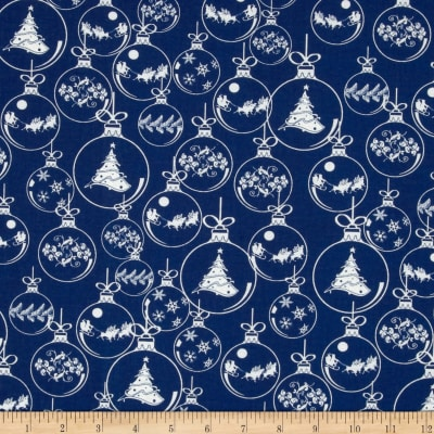 Season's Greetings Ornaments Blue