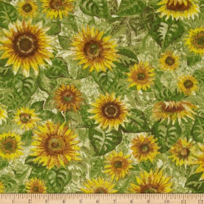 Harvest Bounty Sunflower Green/Gold
