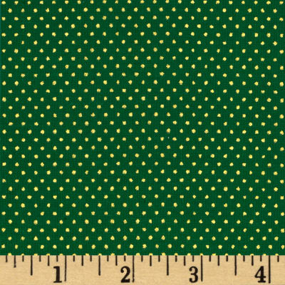 Christmas Jewels Dots Metallic Gold/Green