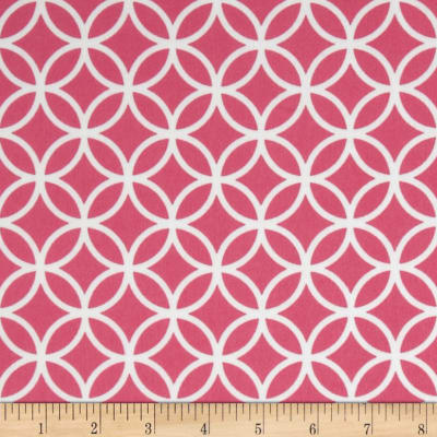 Cozy Cotton Flannel Circle Plaid Hot Pink